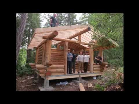 Building with logs course. Island School of Building Arts (ISBA)