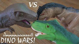 Dinosaur RC Toys: Dinosaur WAR! T-Rex VS T-Rex VS T-Rex VS Triceratops! :-)