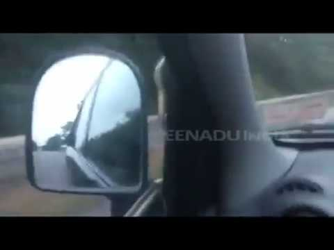 Video: Snake falls on a moving car in Hyderabad