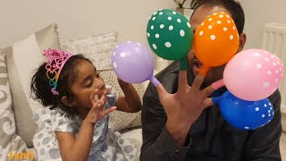 Ishfi and Daddy Playtime with Balloons and Color song