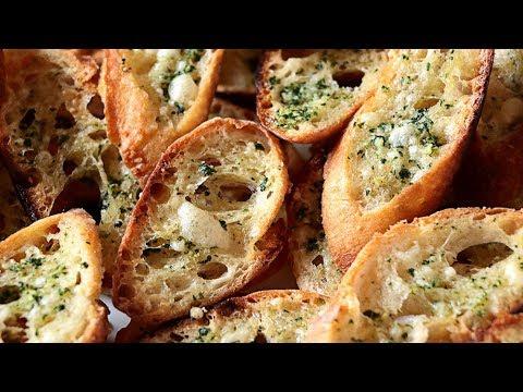 Pan de ajo ¡Facil y rápido! - Garlic Croutons SUB🇬🇧- Crostini all'aglio