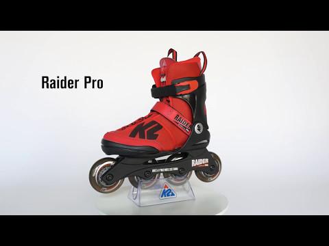 5d5d41cdc98 Køb K2 - Raider Pro Junior Red - Justerbare Rulleskøjter - 32-37