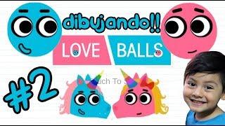 Love Balls Gameplay | Bolitas con Skin de Unicornio | Juegos para niños