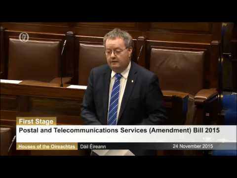 Michael Moynihan TD: Postal and Telecommunications Services