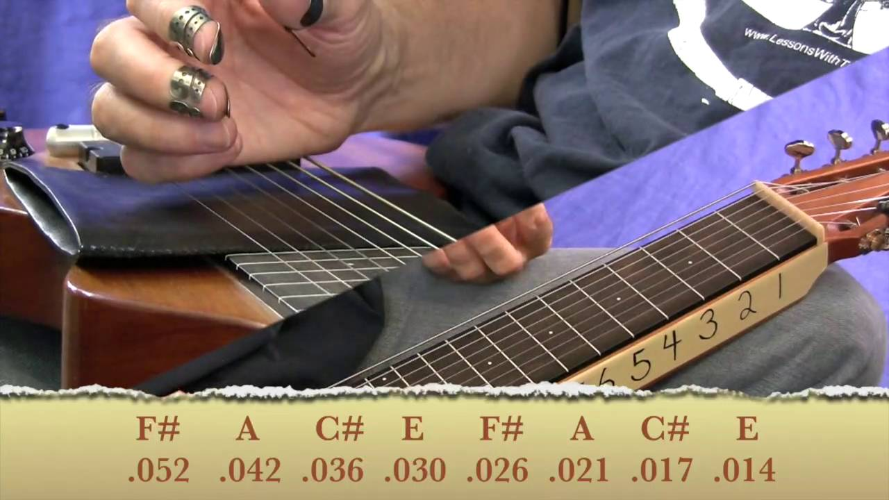 Intro  To A6 Tuning - for 8 string or 6 String Lap Steel
