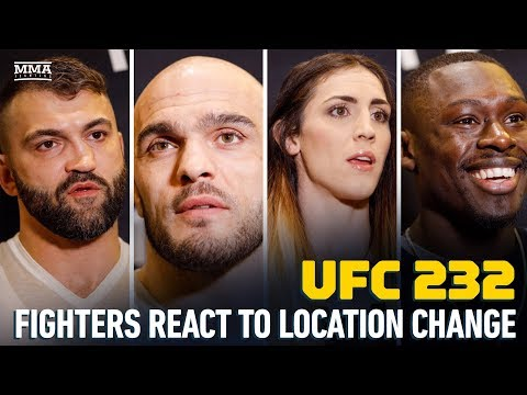 UFC 232 Fighters Discuss Event Moving to California - MMA Fighting