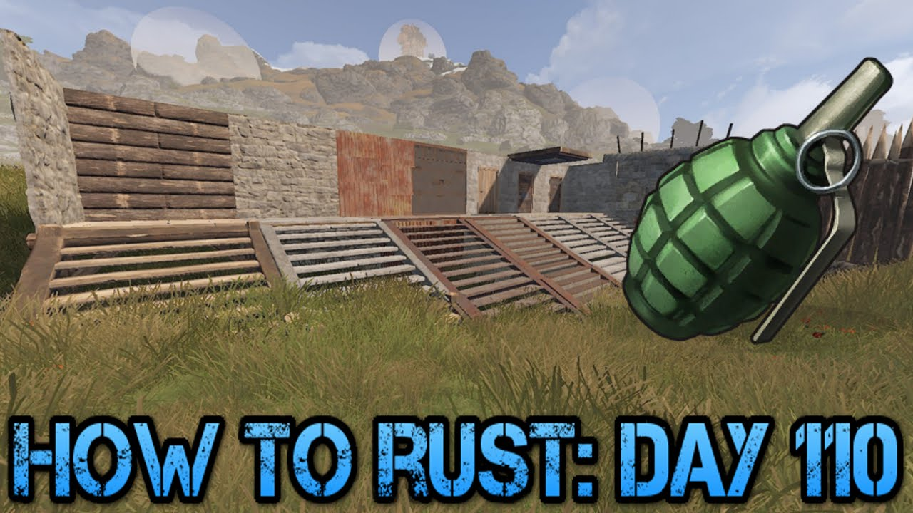 F1 Grenade Raid Information! | How To Rust: Day 110!