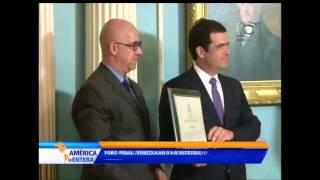 'Foro Penal Venezolano' recibe galardón por su labor con los presos políticos de su país