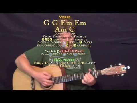 Vice (Miranda Lambert) Guitar Lesson Chord Chart - Capo 2nd - G Em Am C D