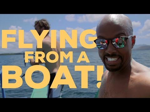 DJI Drone Flying from a Boat - (TUTORIAL)