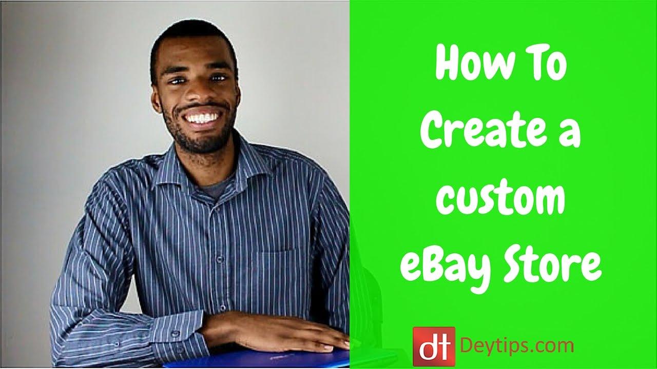 Create an ebay store