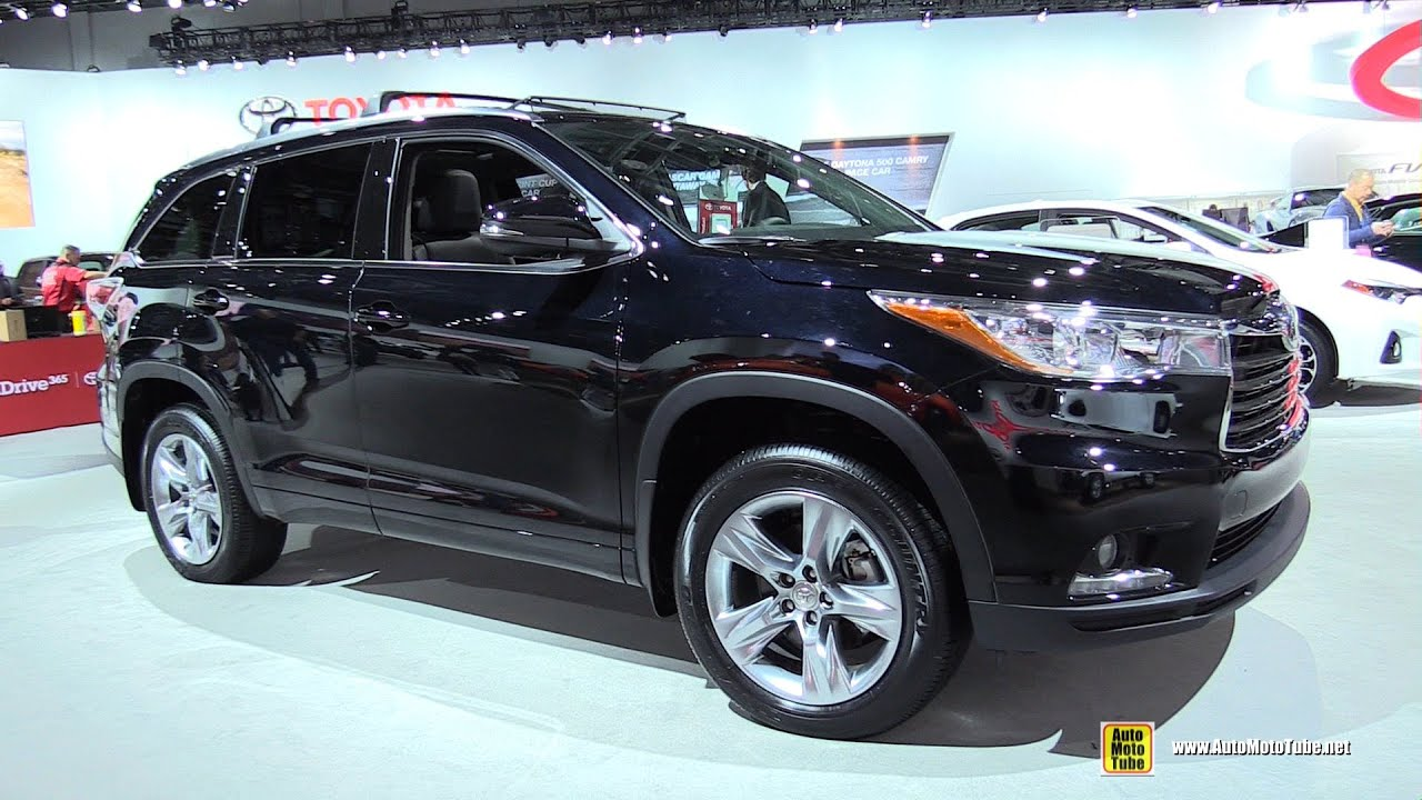 2015 Toyota Highlander Limited AWD   Exterior And Interior Walkaround   2015  Detroit Auto Show   YouTube Design Inspirations
