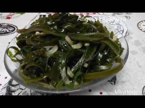 Салат из морской капусты по корейски!