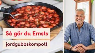 Somrig och fräsch jordgubbskompott av Ernst