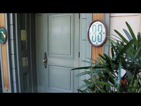 Club 33 tour at Disneyland with Trophy Room, elevator, balconies over New Orleans Square