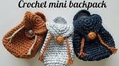 Täschchen Rucksack Häkeln Für Einkaufschip Schlüsselanhänger