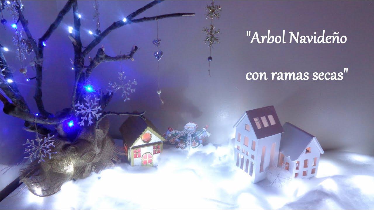 Rbol navide o con ramas secas decoraciones navide as for Decoracion con ramas secas