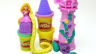 Play Doh Sparkle Rapunzel Garden Tower