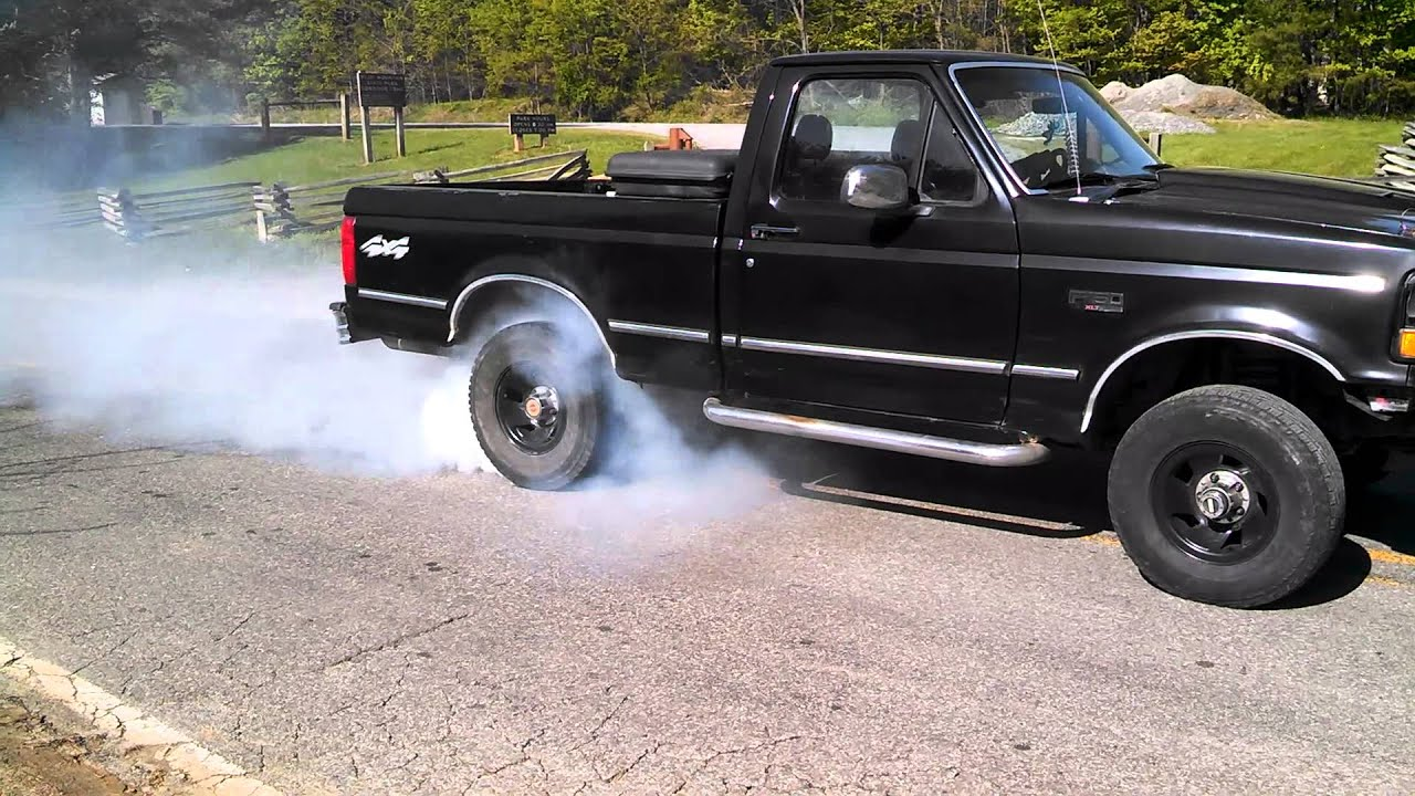 94 f150 5 0 5speed burnout youtube