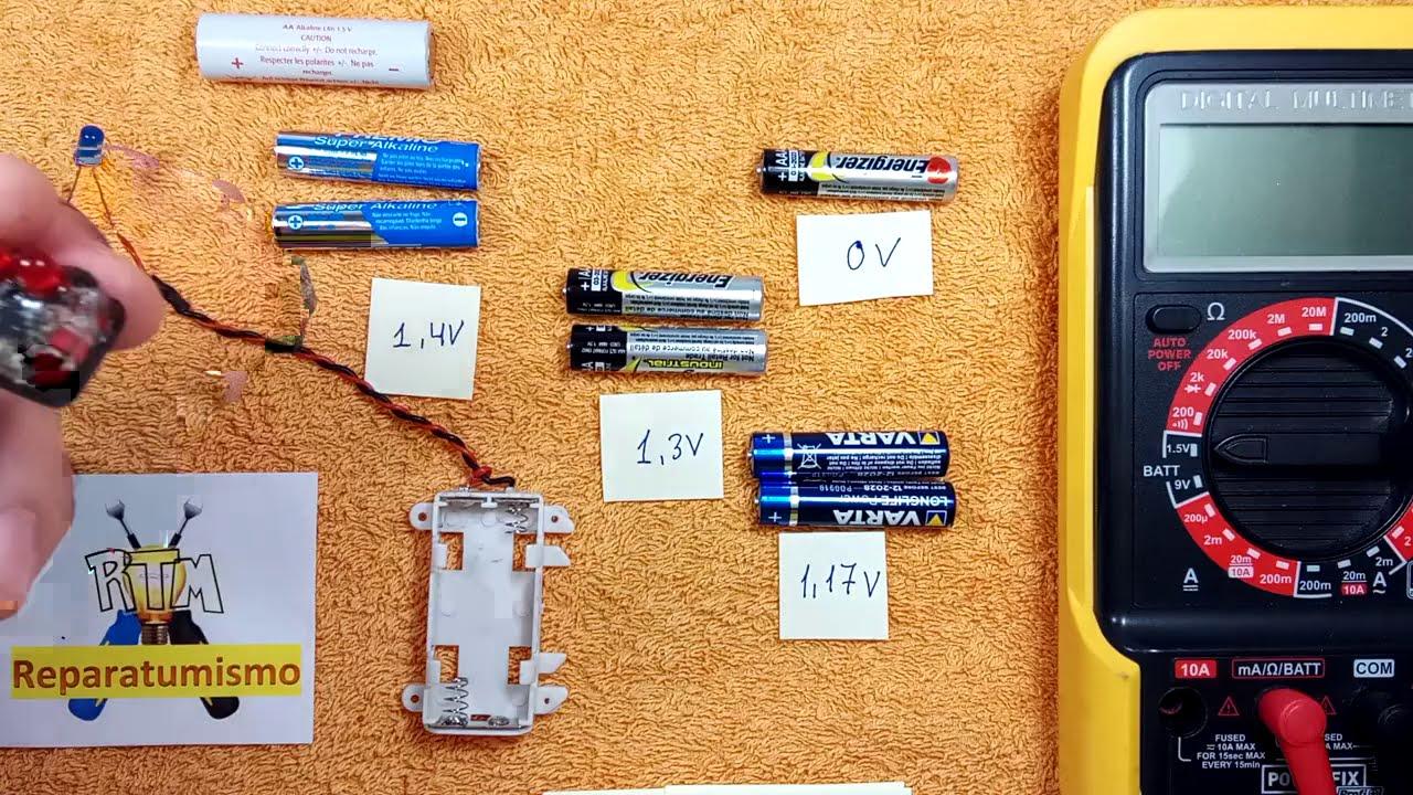 COMPROBADOR CASERO  DE PILAS 1,5 V  - AA ó AAA (Comprobación por parejas de pilas)