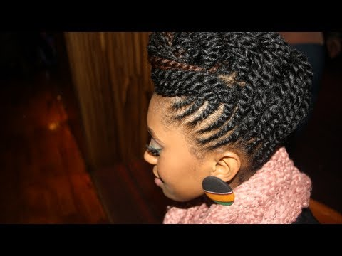 Updo with BeUNIQUE Hair Care Mango Twist - YouTube