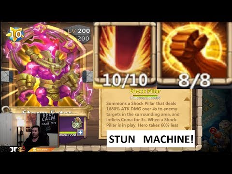 Storm Eater Double Evolved 8/8 BRUTE Force GAME PLAY INSANE Castle Clash