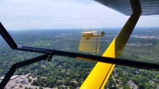 Formation flying Luscombe & Pietenpol Air Camper