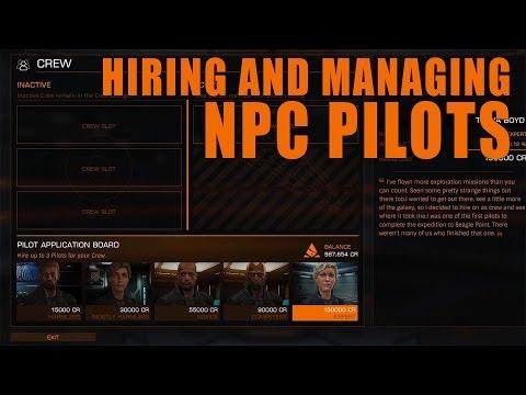 Elite: Dangerous. Hiring and Managing NPC Pilots