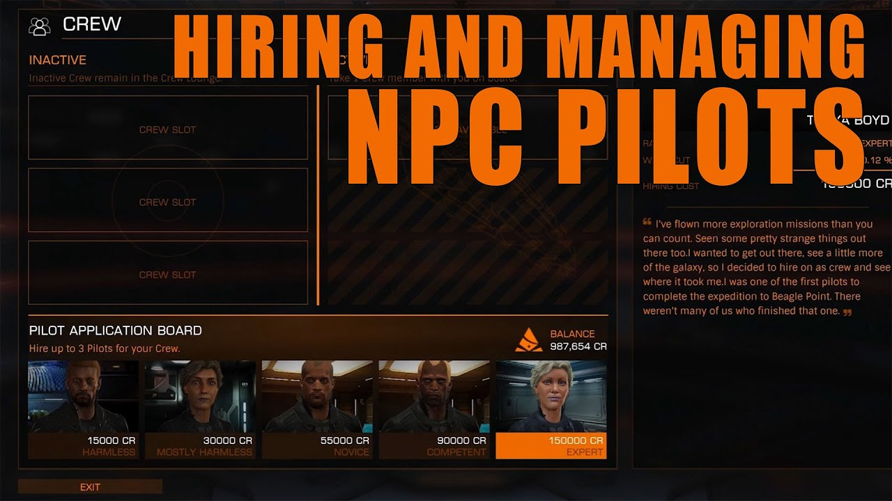 Elite: Dangerous  Hiring and Managing NPC Pilots