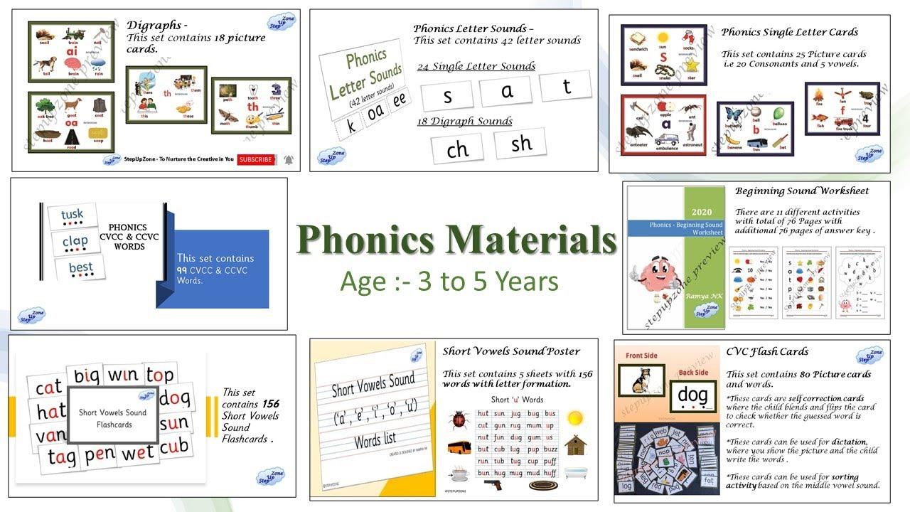 Phonics Materials Phonics Letter Sounds Jollyphonics Cvc Words Short Vowels Digraphs Youtube