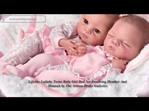 Lifelike Lullaby Twins Baby Girl Doll Set Featuring