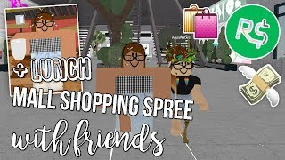 MALL SHOPPING SPREE WITH FRIENDS IN ROBLOX