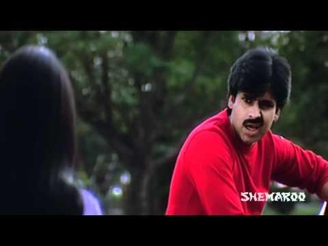 Attharintiki Daaredhi Hero Pawan Kalyan and Bhoomika's fight - Kushi Movie Comedy Scenes