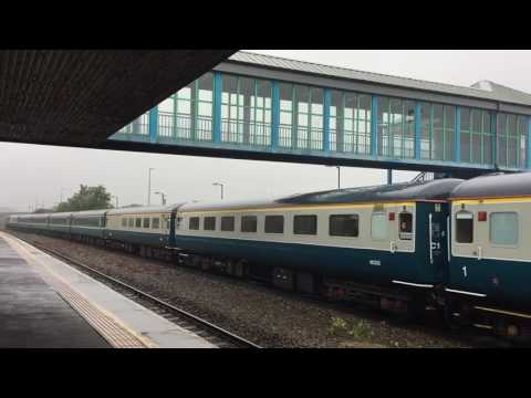 Retro Railtours with The Retro Welsh Dragon 2 passing through Neath Station 2017 07 15