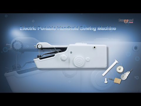 Electric Portable Handheld Sewing Machine Travel Household Cordless Stitch