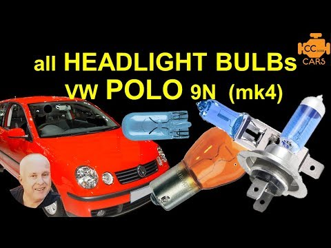 VW POLO Bulb replacement | VW POLO 9N Light Bulbs