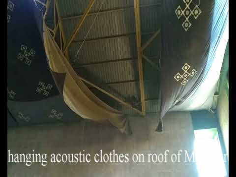 Acoustic fabric cleaning, Sports complex hall, University of Mumbai