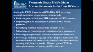 Lessons Learned in the Field of Traumatic Stress - Dean Kilpatrick