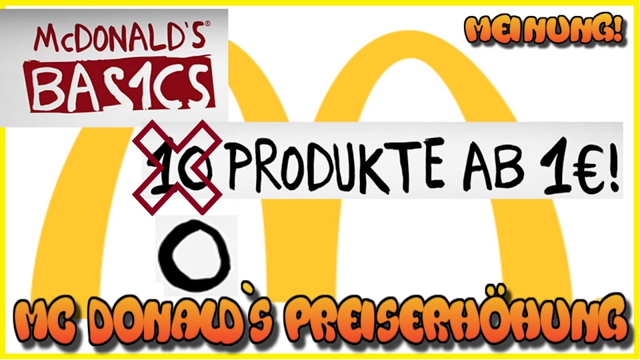 MC Donalds Shitstorm Preiserhöhung