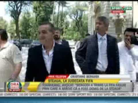 Cristiano Bergodi:Imi pare rau ca m-am despartit de suporterii STELEI!