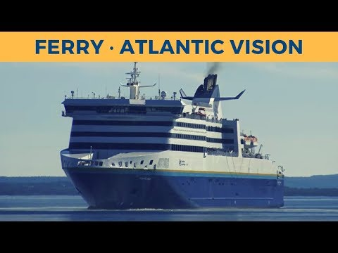 Departure of ferry ATLANTIC VISION in North Sydney (Marine Atlantic)
