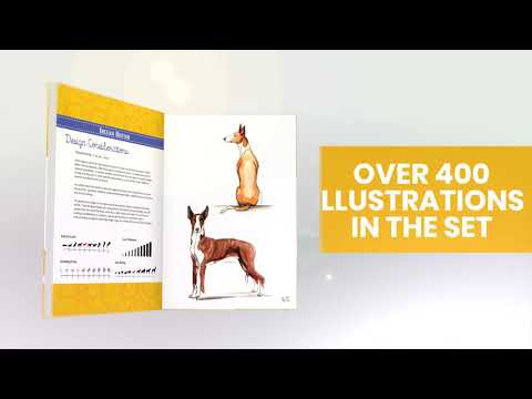 Dog Breeds Pet Fashion Illustration Encyclopedia: Volume 4 Hound Breeds