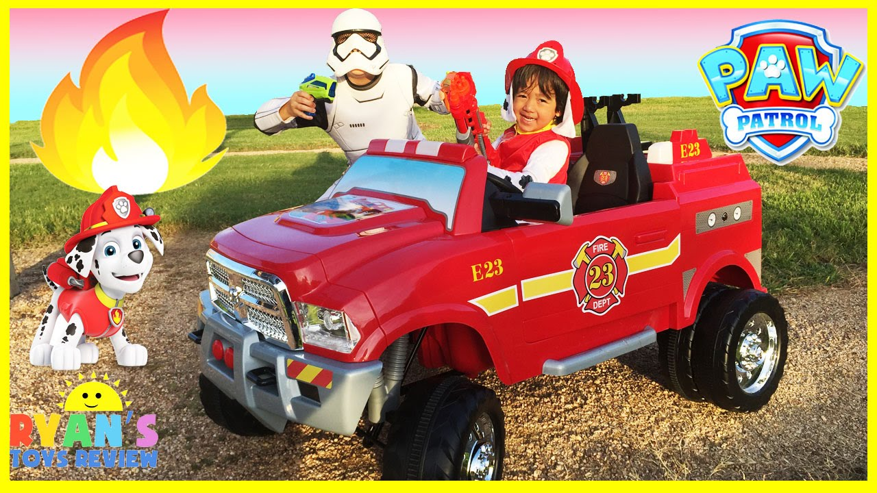 Power Wheels For Big Kids >> FIRE TRUCK FOR KIDS POWER WHEELS RIDE ON - YouTube