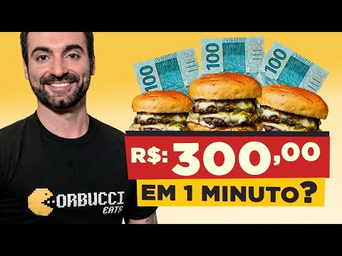 R$300 em 1 minuto?? Quem come hambúrguer mais rápido!!