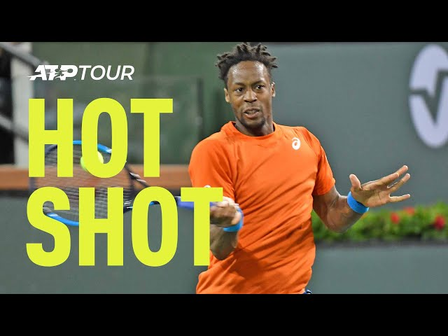 Hot Shot: Monfils Shows You What It's Like To Be In The Zone In Indian Wells 2019