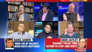 The Newshour Debate: Cagey about  Narendra Modi? - Full Debate (28th Jan 2014)