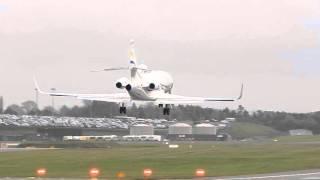 Dassault Falcon 900 Reg N7600S on short finals at Birmingham Airport