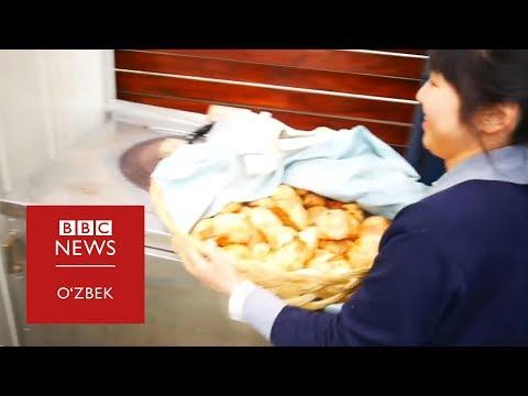 Ўзбекча сомса пишириб йиғлаган япон қизи - BBC Uzbek