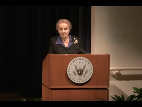 Dr. Madeleine K. Albright On Bipartisanship And Foreign Policy