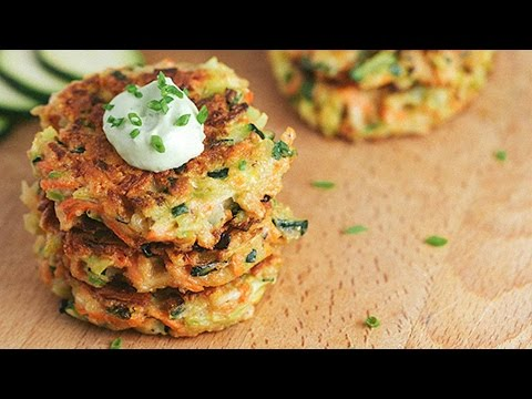 Crispy Vegetable Fritters with Avocado Sauce